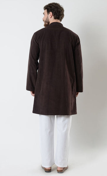 Mens Zipper Corduroy Tunic - EastEssence.com