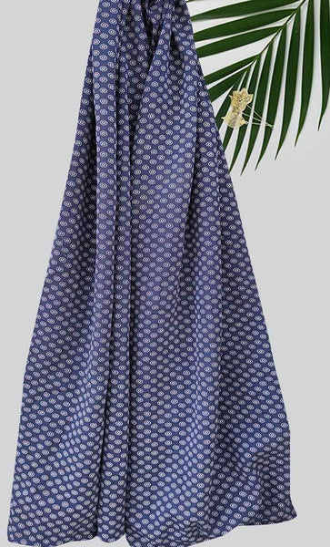 Mini Print Hijab-Navy - EastEssence.com