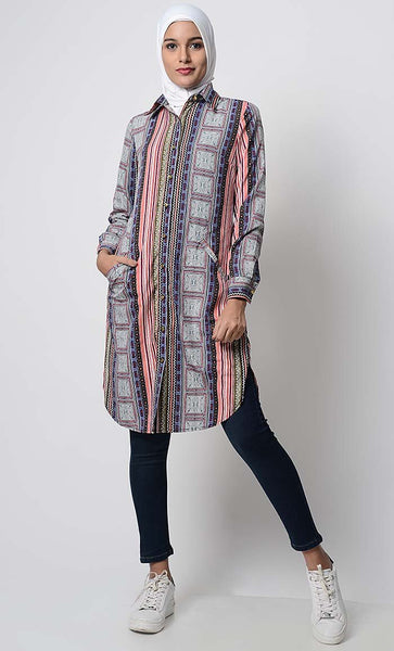Mix and Match Printed Everyday Tunic - EastEssence.com