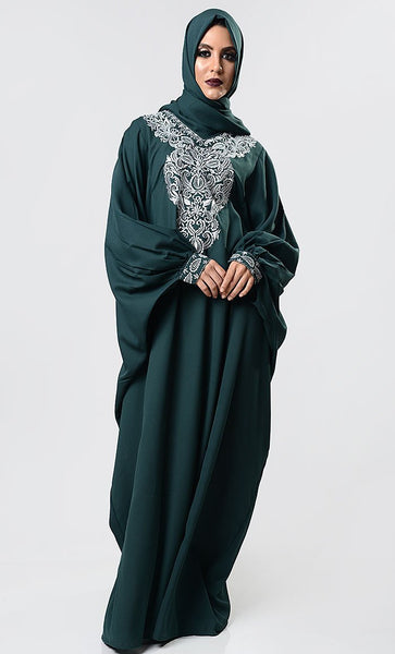 Modest Embroidered Kaftan - EastEssence.com