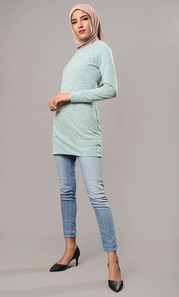 Modest Solid jersey Pullover-Final Sale - EastEssence.com
