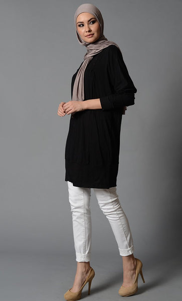 Modest Solid Viscose Lycra Jersey Tunic - EastEssence.com