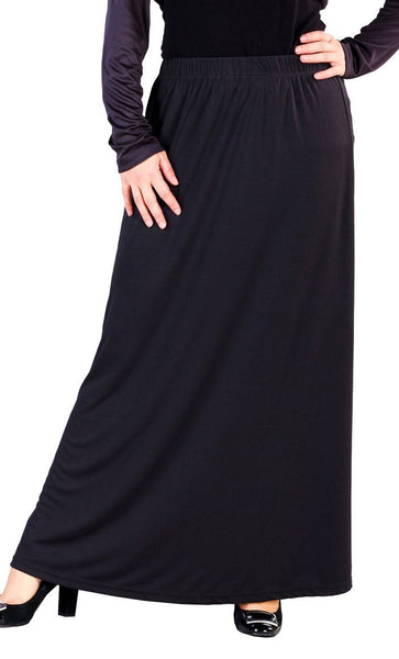 Modest Wear Elasticated Waistband Long Skirt - EastEssence.com