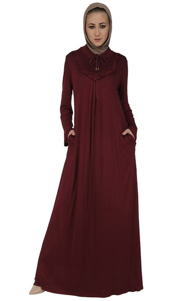 Modest Wear Frill Detailed Abaya Dress - EastEssence.com