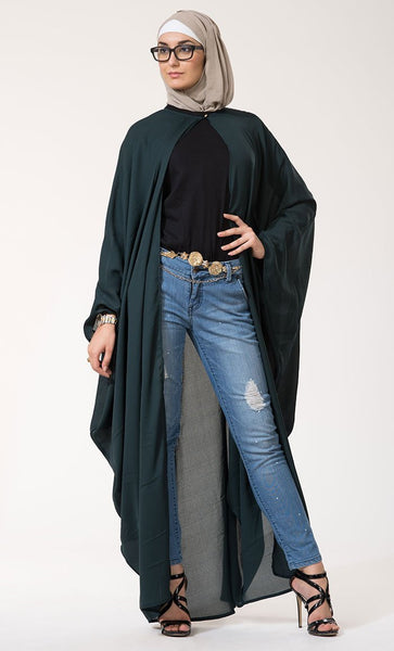 Moss Crepe Cape Kaftan Shrug-Final Sale - EastEssence.com