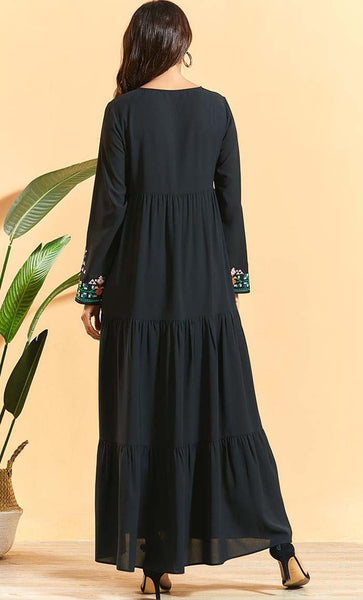 Mutil Tier Everyday Abaya - *Size Up* - EastEssence.com