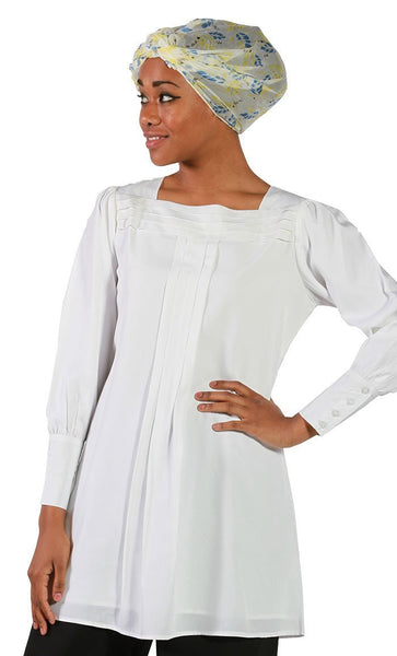Najlaa Pleated Poly Crepe Tunic - EastEssence.com