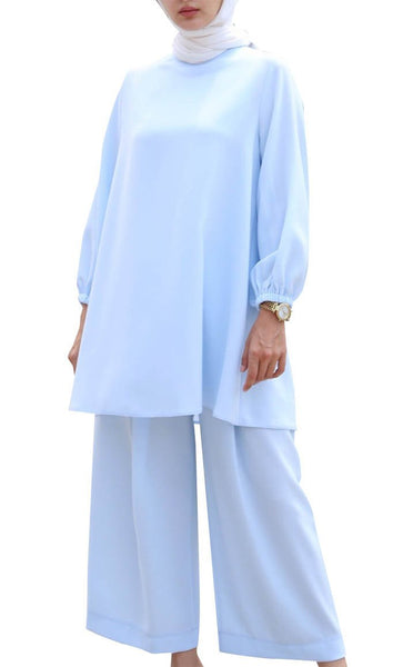 New Everyday Casual Set (Blue) - *Size Up* - EastEssence.com