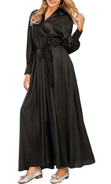 New Mom's Maternity Abaya - *Size Up* (Black) - EastEssence.com