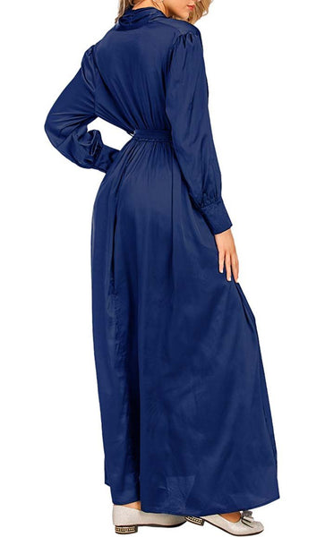 New Mom's Maternity Abaya - *Size Up* (Royal) - EastEssence.com