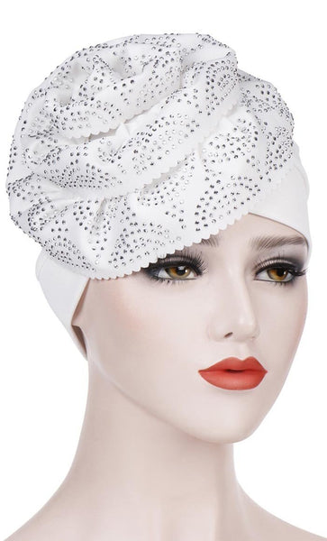 Overall Crystal Turban Bonnet - *Size Up* - EastEssence.com