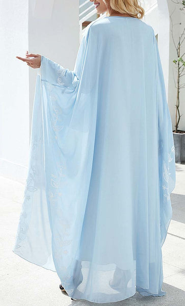 Pastel Color Kaftan Abaya - *Size Up* - EastEssence.com