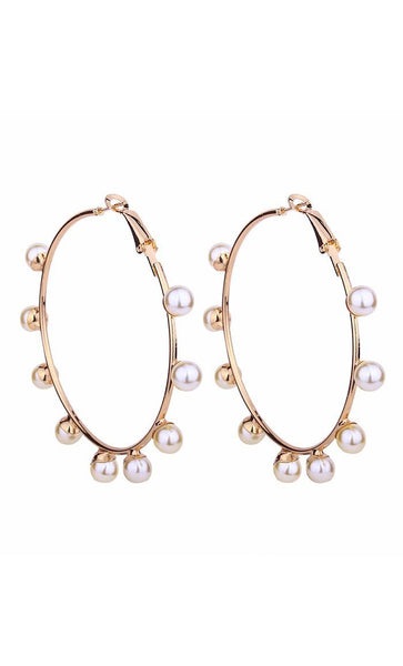 Pearl Loop Earrings - EastEssence.com