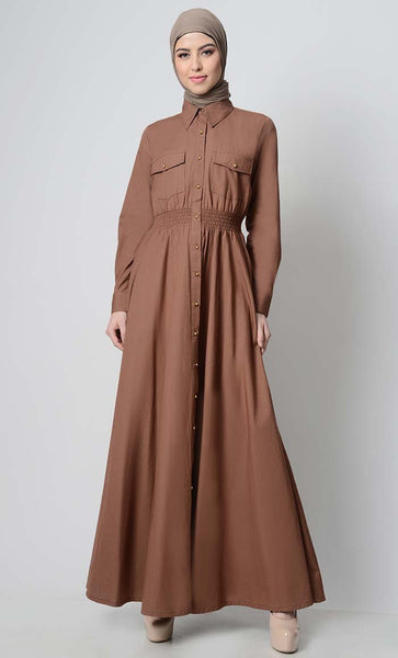 Perfect Everday Button Down Abaya - EastEssence.com
