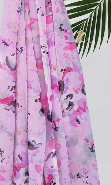Pink Waterfall Print Hijab - EastEssence.com