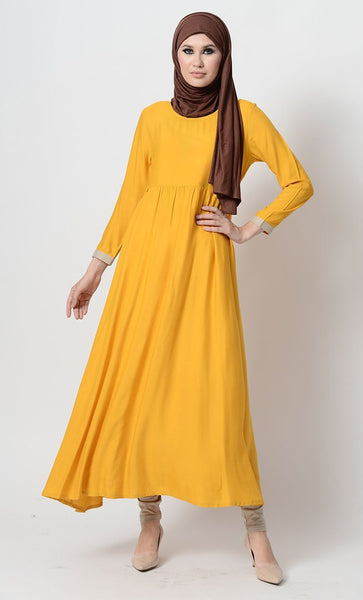 Pleated Anarkali Tunic And Pants Set - EastEssence.com