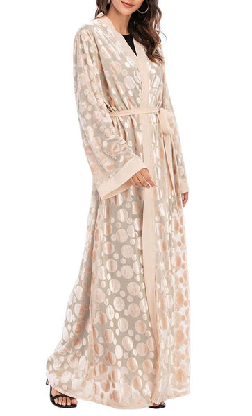 Polka Dot Sheer Layer Shrug - *Size Up* (Apricot) - EastEssence.com