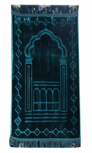 Premium Prayer Rug- Green - EastEssence.com