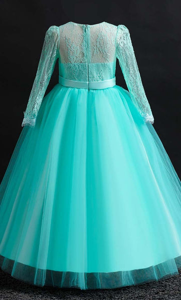Ravishing Princess Girl's Dress (Green)-*Size Up* - EastEssence.com