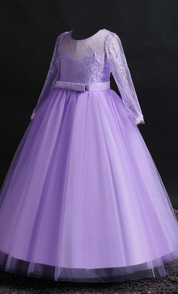 Ravishing Princess Girl's Dress (Purple)-*Size Up* - EastEssence.com