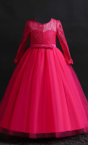 Ravishing Princess Girl's Dress (Rose Pink)-*Size Up* - EastEssence.com
