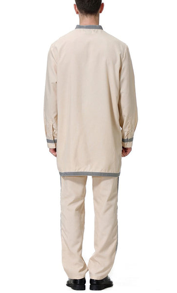 Regular Men's Short Kurta Set (Khaki)-*Size Up* - EastEssence.com