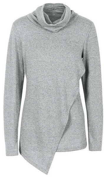 Round Neck Fall Sweater-Grey - *Size Up* - EastEssence.com