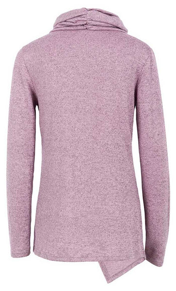 Round Neck Fall Sweater-Pink - *Size Up* - EastEssence.com