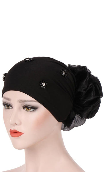 Ruffled Back Embellished Undercap - *Size Up* - EastEssence.com