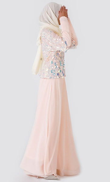 Sequin Layer With Inner Abaya - *Size Up* - EastEssence.com