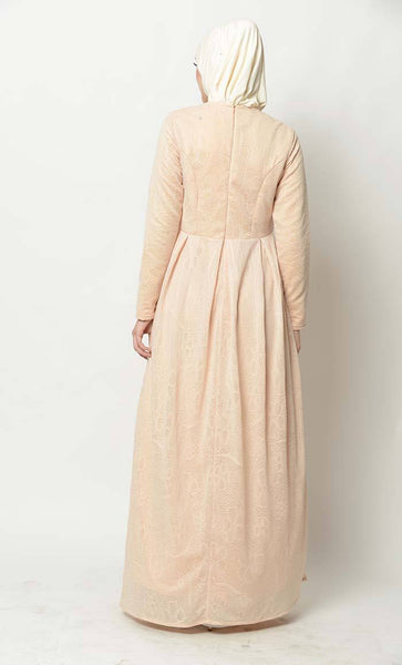 Sequins and pearl embroidered abaya dress - EastEssence.com