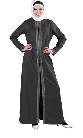 Sequins Embellished A Line Muslimah Abaya Dress - EastEssence.com