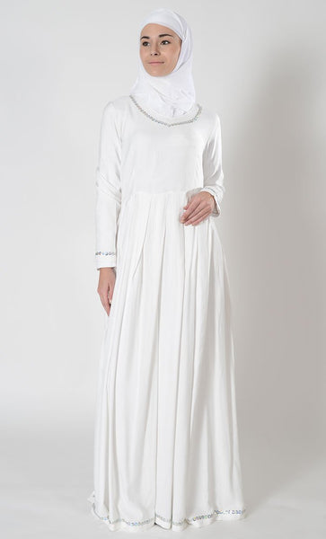 Sequins embellished hajj umrah dress - EastEssence.com