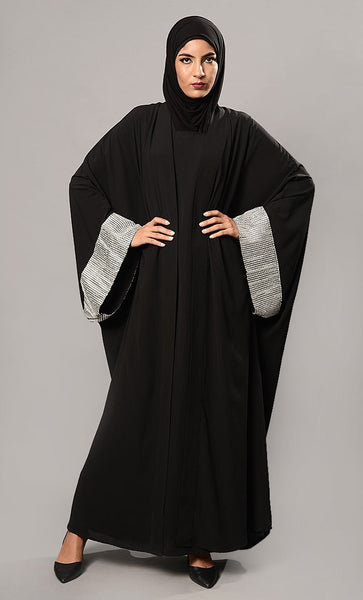 Sequins Embellsished Kaftan Style Abaya Dress - EastEssence.com