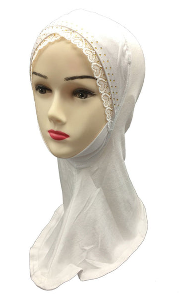 Set Of Two Lace Detail Women'S Hijab Caps - EastEssence.com