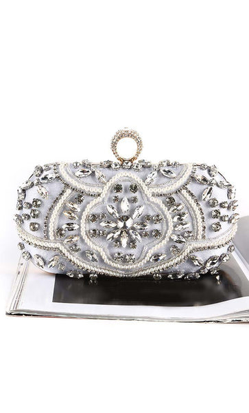 Shimmer and Shine Clutch - Silver - EastEssence.com