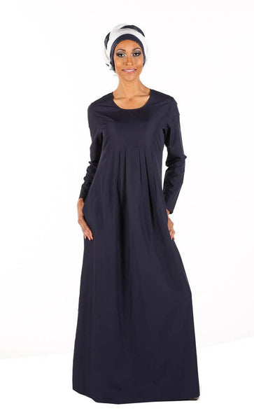 Side Pleated A Line Everyday Abaya Dress - EastEssence.com