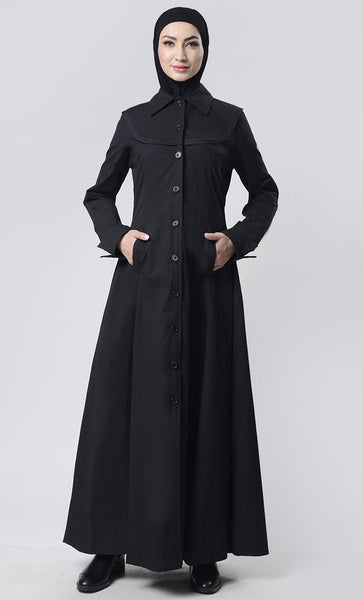 Simple Collar Heavy Layer Jacket - EastEssence.com