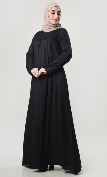 Simple Everyday Abaya With Pockets - EastEssence.com