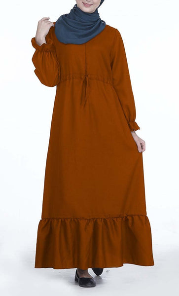 Simple Everyday Solid Abaya Dress - *Size Up* - EastEssence.com