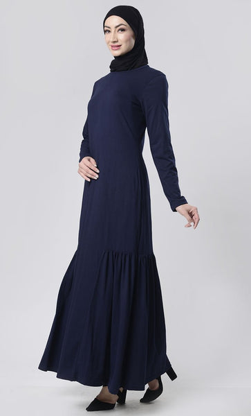 Simple Knit Abaya With Pockets - EastEssence.com
