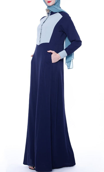 Simply Chic Casual Abaya - Navy - *Size Up* - EastEssence.com