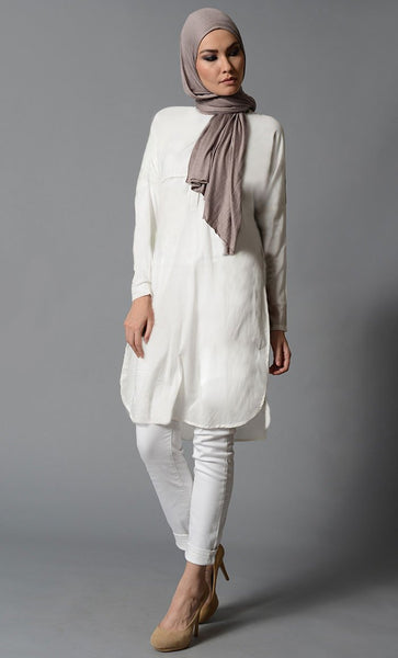 Solid Cotton Everyday Tunic - EastEssence.com