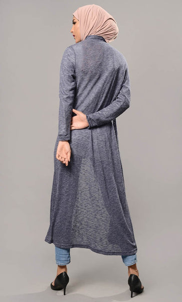 Solid Front Open Shrug-Final Sale - EastEssence.com