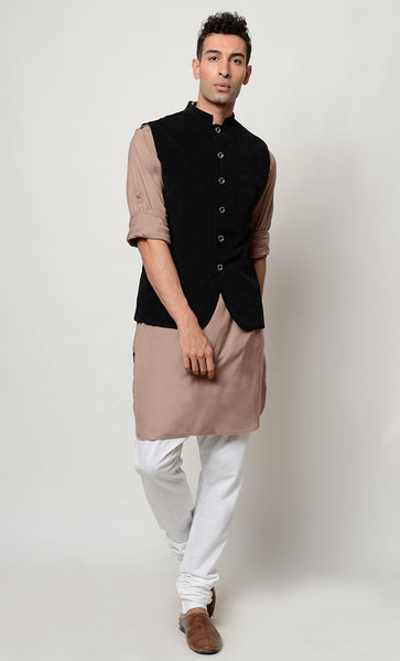 Solid Rayon kurta pajama with jacket Eid Dress - EastEssence.com