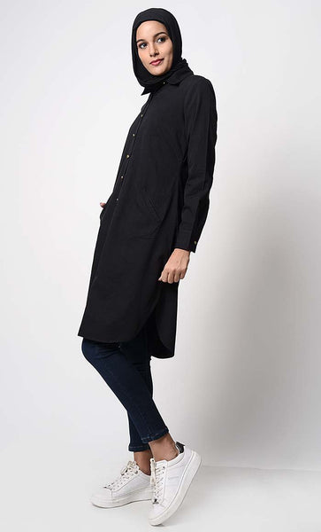 Solid Twill Everyday Tunic - EastEssence.com