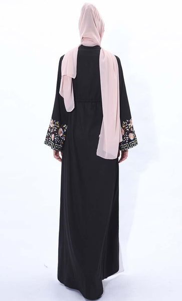Spring Blossom Embroidered Shrug- Black - *Size Up* - EastEssence.com