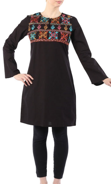 Spring Cotton Flower Tunic - EastEssence.com