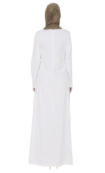 Stones Embellished Applique Work Abaya Dress - EastEssence.com