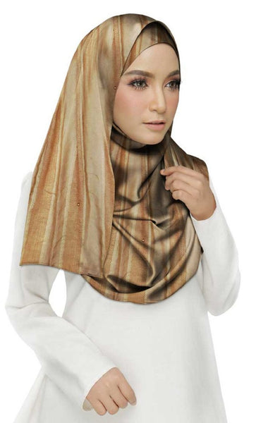 Striped Cotton Women's Stole - Brown - EastEssence.com